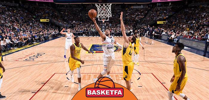 دنور ناگتس ایندیانا پیسرز لیگ بسکتبال NBA