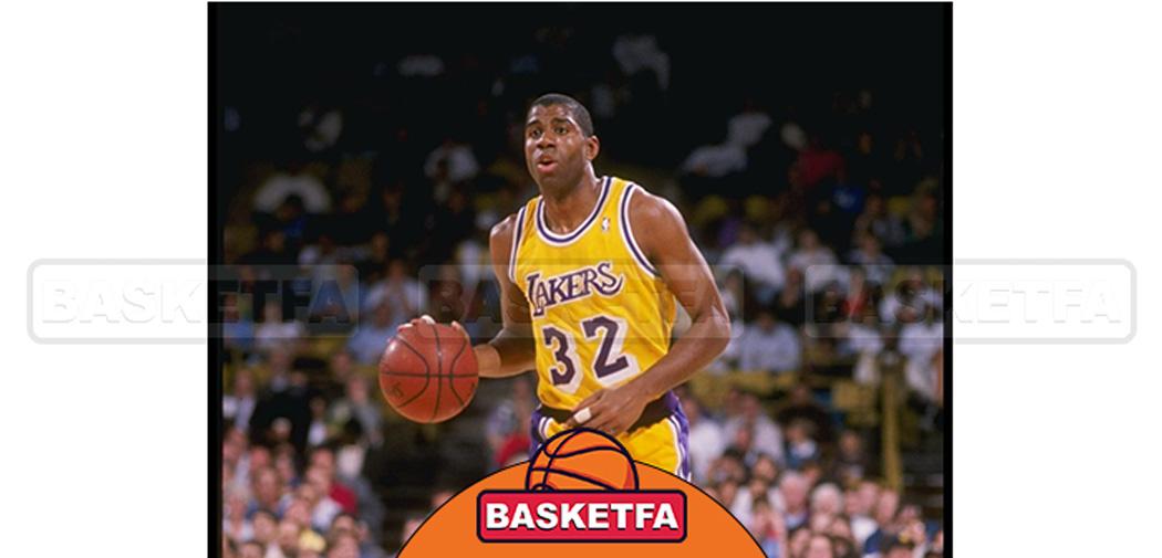 مجیک جانسون سومین بازیکن برتر بسکتبال تاریخ