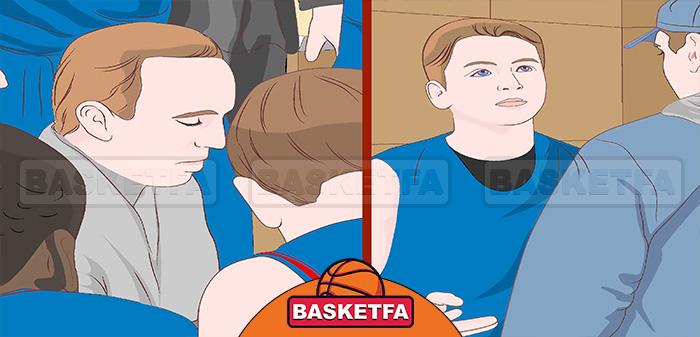 آماده شدن برای بازی بسکتبال