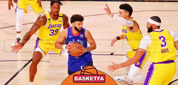 لس آنجلس لیکرز و دنور ناگتس بسکتبال NBA