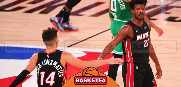 میامی هیت و بوستون سلتیکس بسکتبال NBA