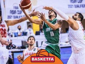 تیم ملی بسکتبال ایران عربستان